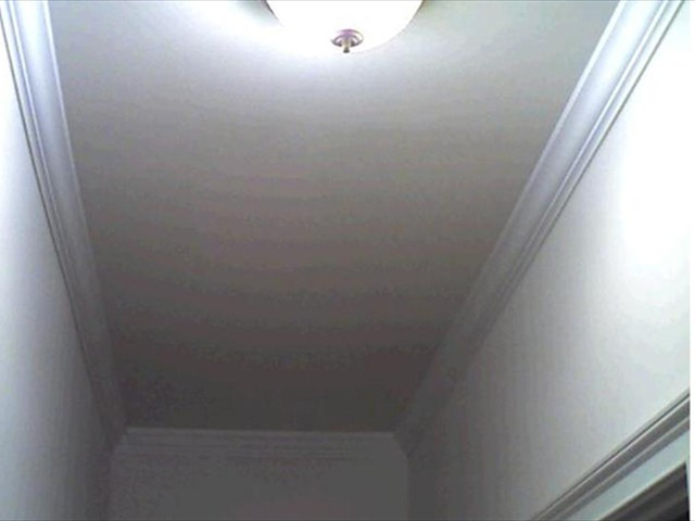 THERE IS A LEAK IN THE ATTIC DRIPPING ON THE CEILING. CAN YOU SEE IT