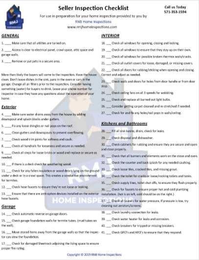 Seller Inspection Checklist